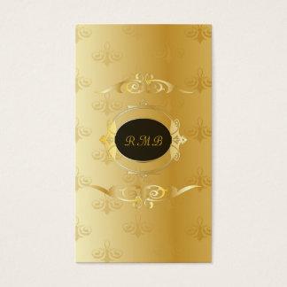 Marco elegante del cordón del oro del vintage del tarjeta de negocios