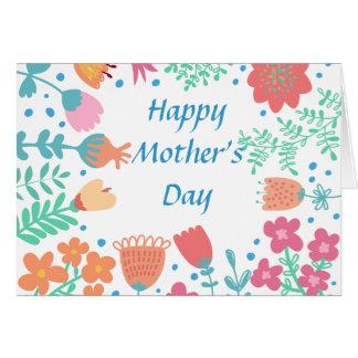 Marco floral feliz del día de madre tarjeta de felicitación