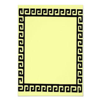 Marco griego del art déco invitación 12,7 x 17,8 cm