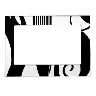 Marco Magnético 90 negros abstractos y blanco