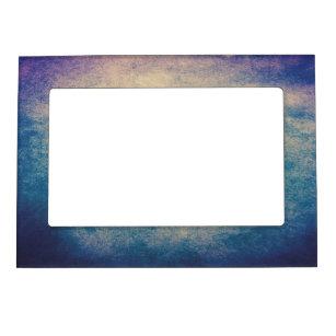 Marco magnético abstracto azul del vintage 5x7 del