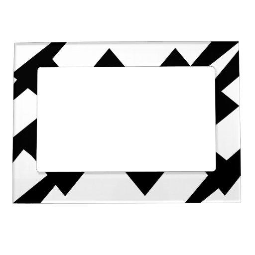 Marco magnético abstracto blanco y negro marcos magnéticos