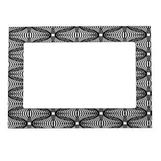 marco magnético blanco del negro de la ilusión