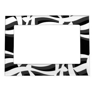 Marco magnético blanco negro de la foto del extrac marcos magnéticos para fotos