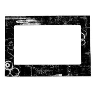Marco magnético blanco y negro del Grunge 5x7