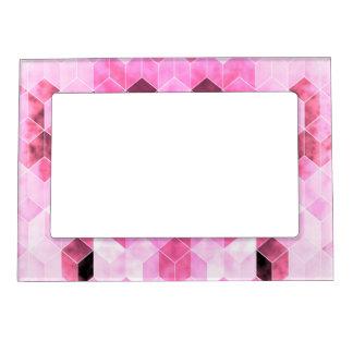 Marco Magnético Diseño geométrico rosado y negro intenso
