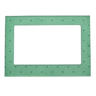 Marco Magnético Diseño punteado verde oscuro retro del vintage