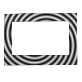 Marco magnético el remolino en blanco y negro marcos magnéticos de fotos