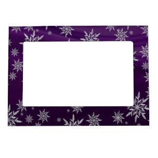 Marco Magnético Estrellas púrpuras del navidad con el cristal de