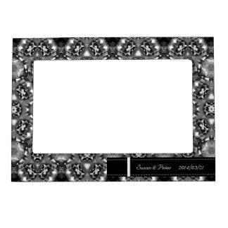 Marco magnético modelado blanco y negro chispeante marcos magneticos para fotos