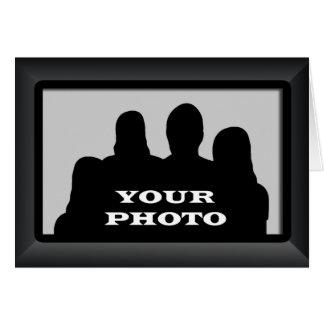 Marco negro su nota horizontal Crad 2 de la foto Tarjeta Pequeña