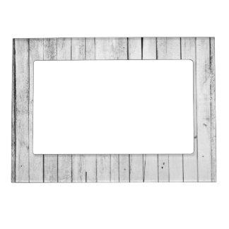 Marco Para Fotos Magnético Granja de madera blanco y negro rústica del panel