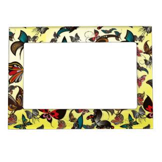 Marco Para Fotos Magnético Modelo del vector de las mariposas