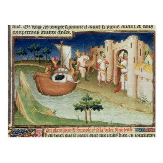 Marco Polo con los elefantes y los camellos que Postal