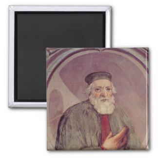 Marco Polo del 'Sala del Mappamondo' Imán Cuadrado