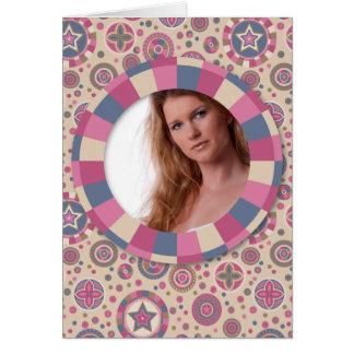 """marco precioso del círculo - """"color de rosa beige"""" tarjeta pequeña"""