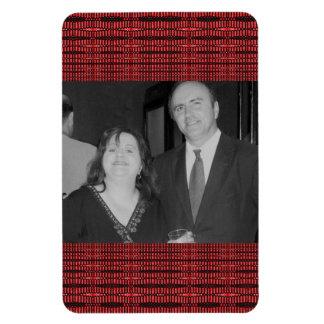 Marco rojo de la foto del modelo imanes rectangulares