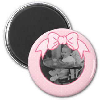 Marco rosado del arco - personalizar con sus los p imán redondo 5 cm