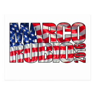 Marco Rubio 2016 (bandera) Postal