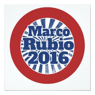 Marco Rubio 2016 Invitación 13,3 Cm X 13,3cm