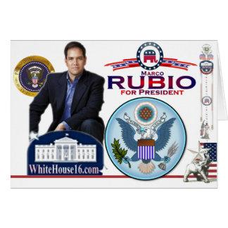 Marco Rubio para presidente Card Tarjeta De Felicitación
