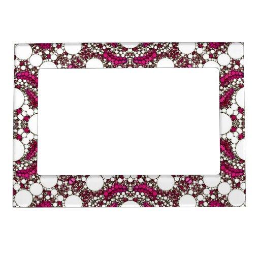 Marco superior del imán del modelo abstracto de marcos magnéticos para fotos