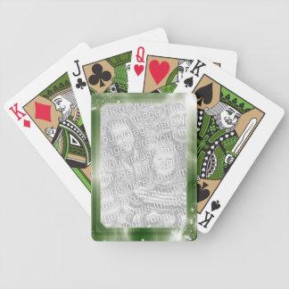 Marco verde personalizado de la foto el | baraja de cartas bicycle