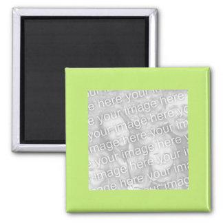 marco verde simple de la foto imán cuadrado