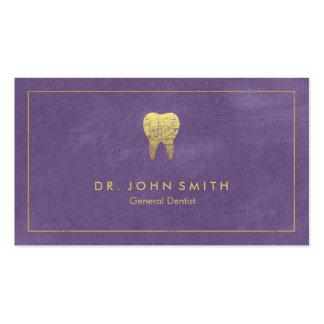 Marco y diente de oro - dentista de la lona tarjetas de visita