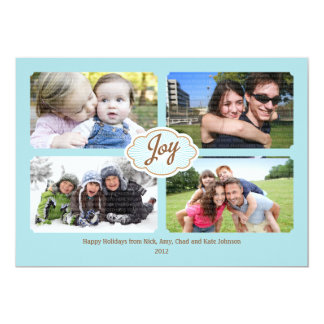 Marcos de la tarjeta de la foto del navidad de la invitación 12,7 x 17,8 cm