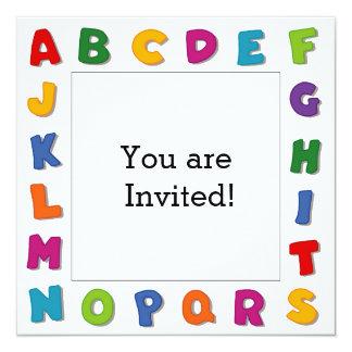 Marcos de las letras invitación 13,3 cm x 13,3cm