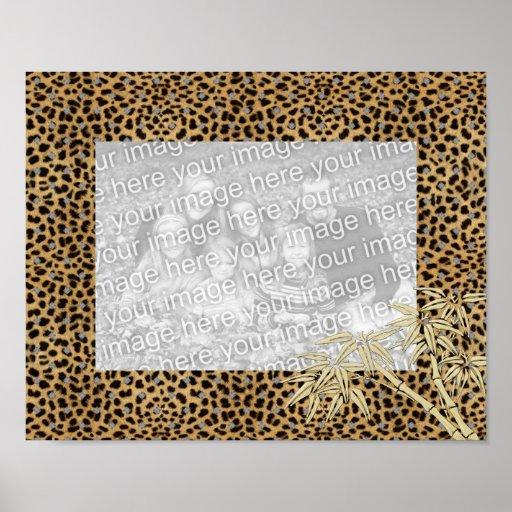 Marcos para su leopardo de la imagen del poster de zazzle - Marcos para posters ...