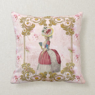 Mare Antoinette Floral Pillow pink クッションC Cojín Decorativo