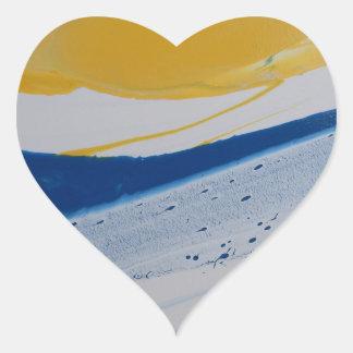 Marea de la tarde pegatina en forma de corazón
