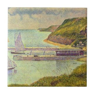 Marea del Puerto-en-Bessin del puerto alta de Azulejo Cuadrado Pequeño