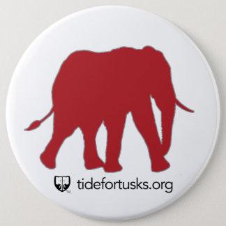 Marea para el botón del elefante de los colmillos