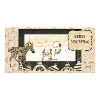 Marfil del vintage y tarjeta negra de la foto del tarjetas fotográficas