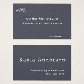 Marfil mínima del añil de la meditación de la yoga tarjeta de visita