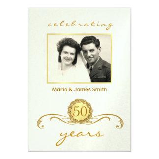 Marfil y oro - 50.as invitaciones de la fiesta de invitación 12,7 x 17,8 cm