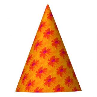 Margarita anaranjada gorro de fiesta