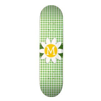 Margarita de la primavera A cuadros verde Guinga Tablas De Patinar