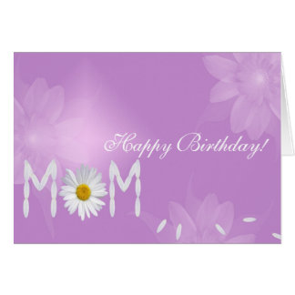 Margarita del cumpleaños para la mamá tarjeta de felicitación
