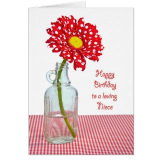 Margarita del lunar del cumpleaños de la sobrina tarjeta de felicitación