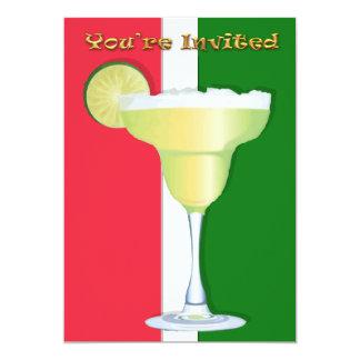 Margarita en colores mexicanos le invitan invitación 12,7 x 17,8 cm