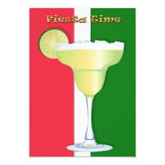 Margarita en mexicano colorea fiesta invitación 12,7 x 17,8 cm