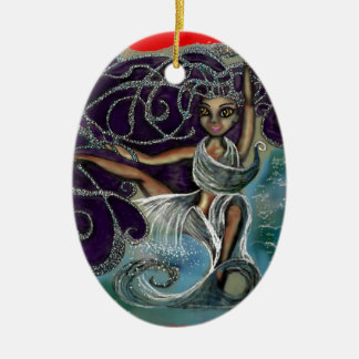 Margarita envolvió en las aguas eternas adorno de cerámica