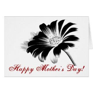 Margarita feliz del negro del día de madre II Tarjeta De Felicitación