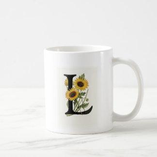 Margarita L taza del monograma