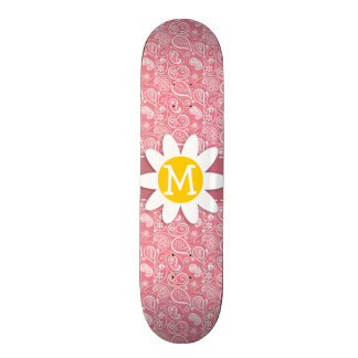 Margarita linda; Se ruboriza Paisley rosada; Flora Monopatin Personalizado
