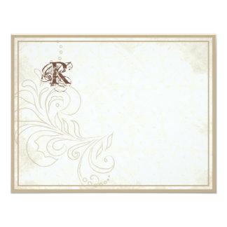 Margarita, pensamiento, mariposa color de rosa de invitación 10,8 x 13,9 cm
